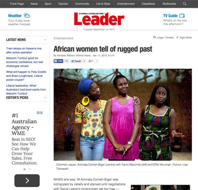 The Leader Jan 2015 | Baulkham Hills African Ladies Troupe