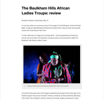Jo Litson May 2013 | Baulkham Hills African Ladies Troupe