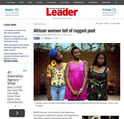 The Leader Jan 2015 | Baulkham Hills African Ladies Troupe