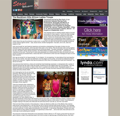 Stage Whispers | Baulkham Hills African Ladies Troupe