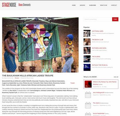 Stage Noise 2013 | Baulkham Hills African Ladies Troupe